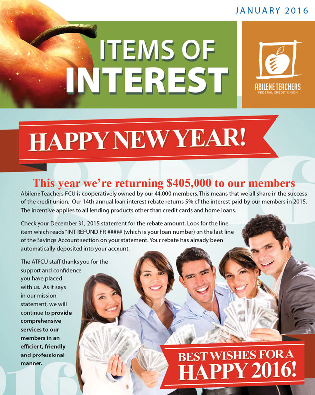 January 2016 Newsletter Cover