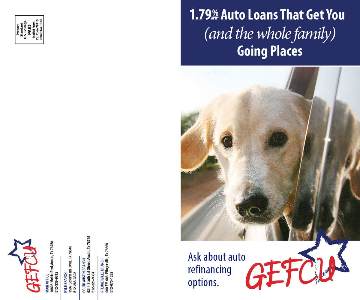 GEFCU Direct Mail – Auto Front