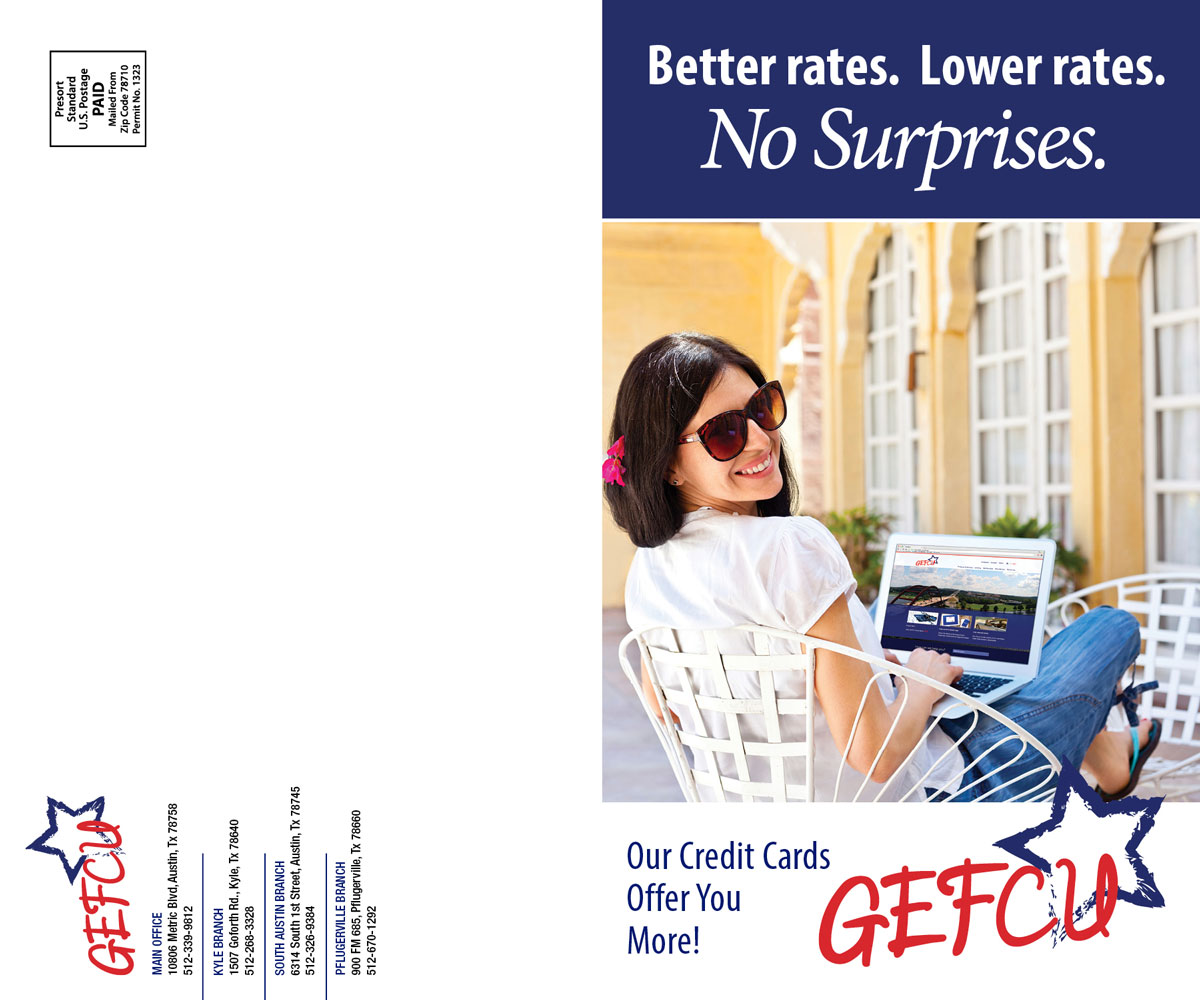 GEFCU Direct Mail – CC Front