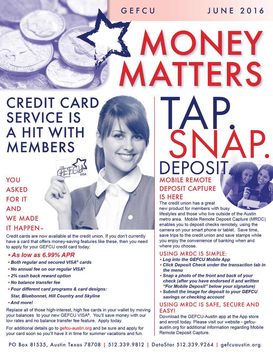 GEFCU Money Matters – June 2016