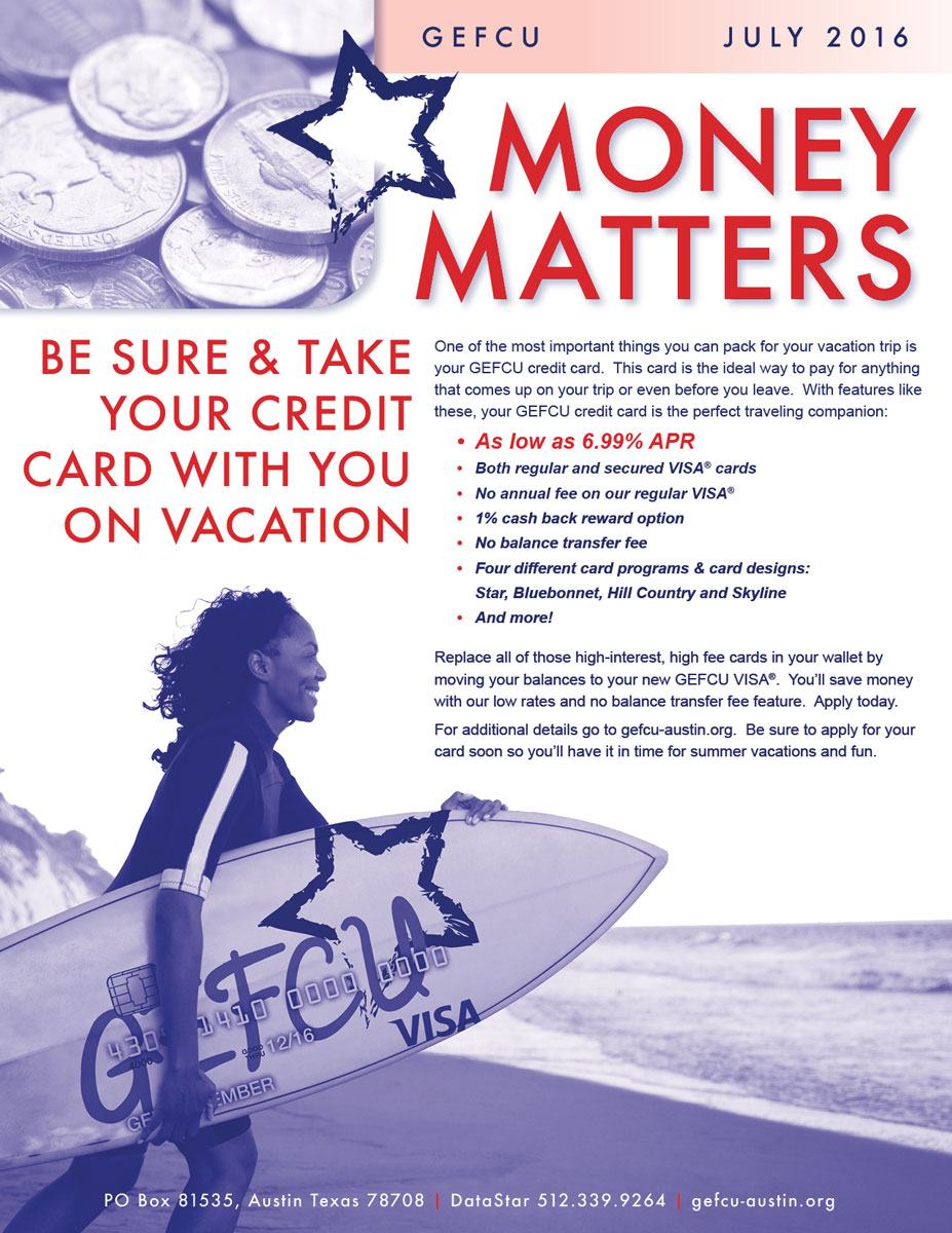 GEFCU Money Matters – July 2016