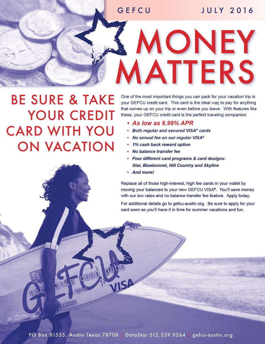 GEFCU Money Matters – July 2016