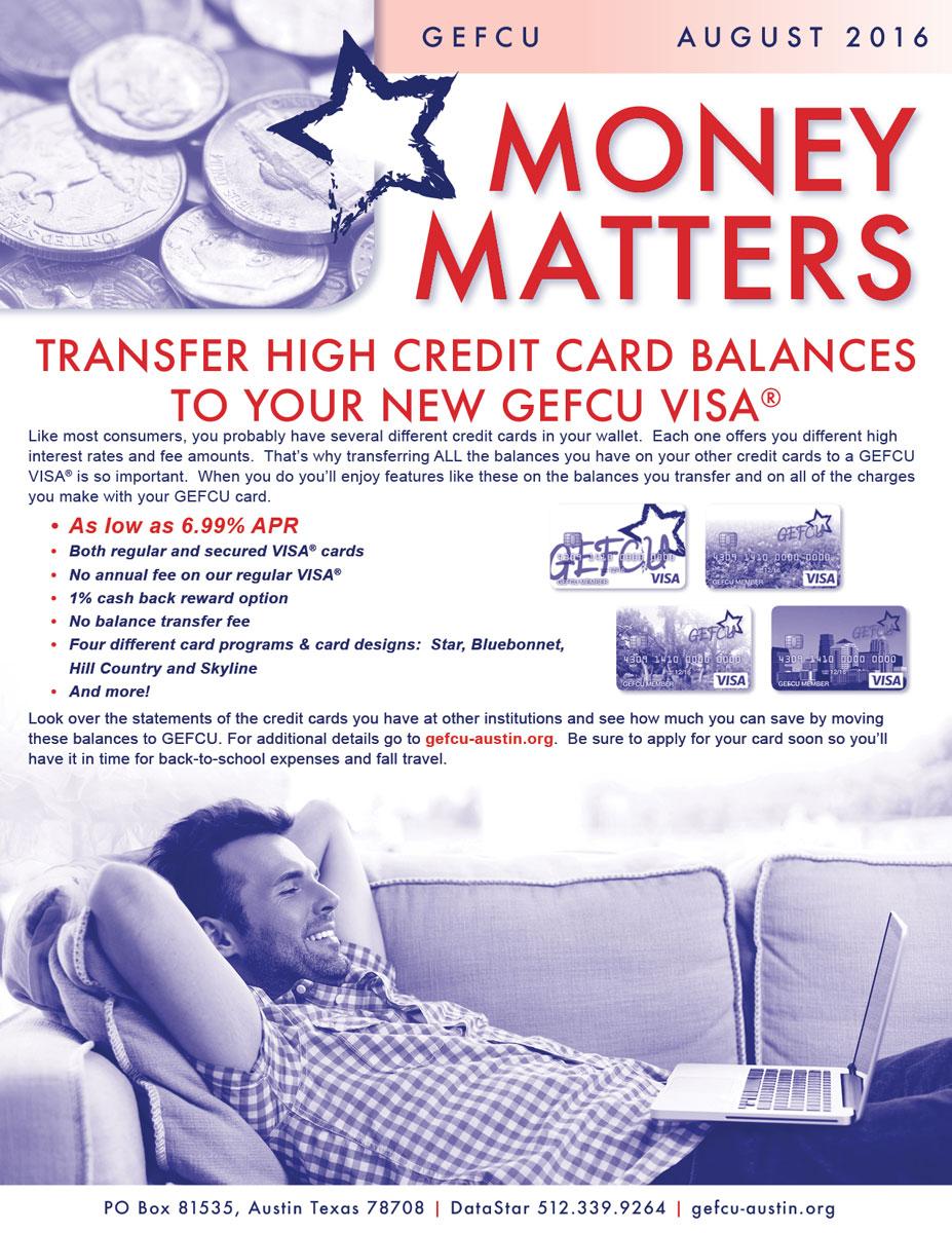 GEFCU Money Matters – August 2016