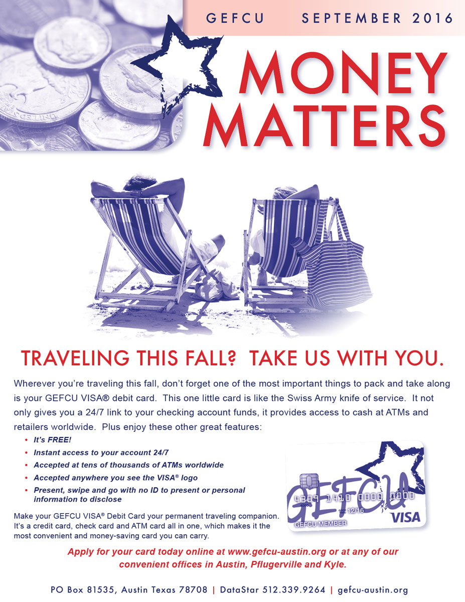 GEFCU Money Matters – September 2016