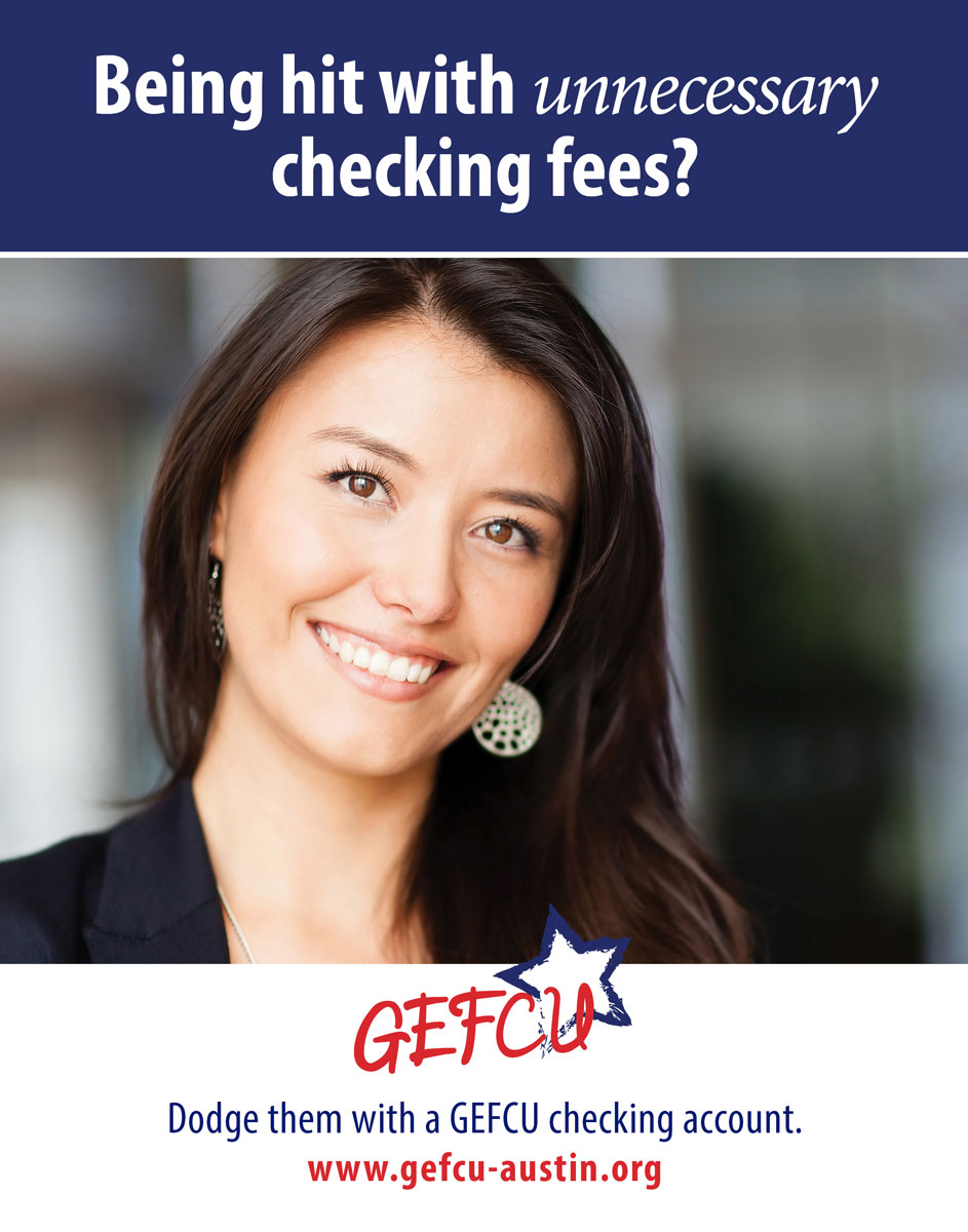 GEFCU Poster – Checking Fees