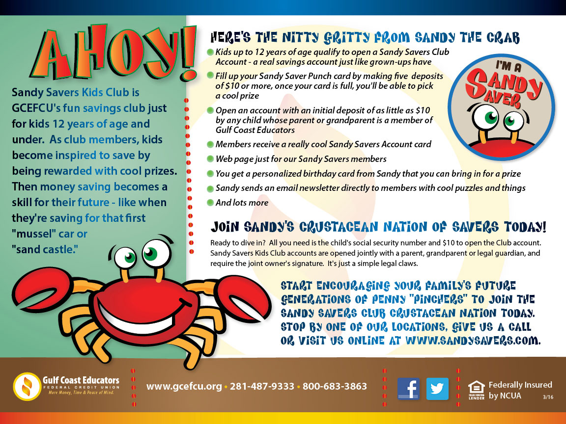 Gulf Coast Sandy Savers Direct Mail 2