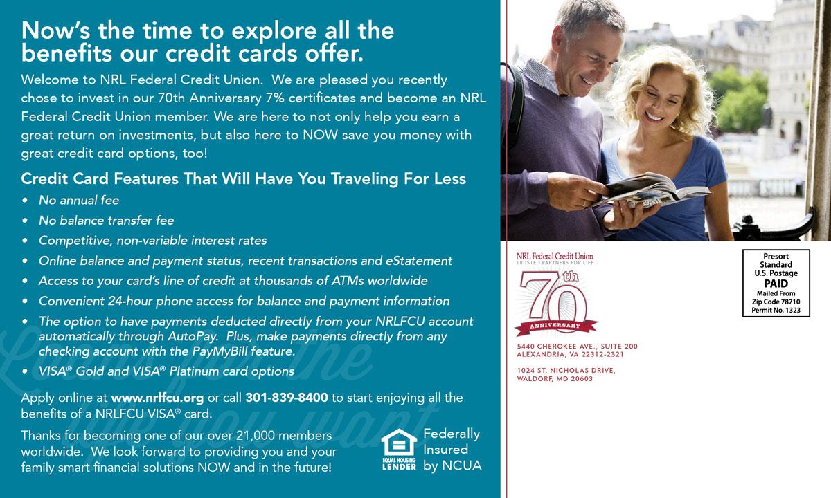 Client Onboarding Postcard – Credit Card – Back