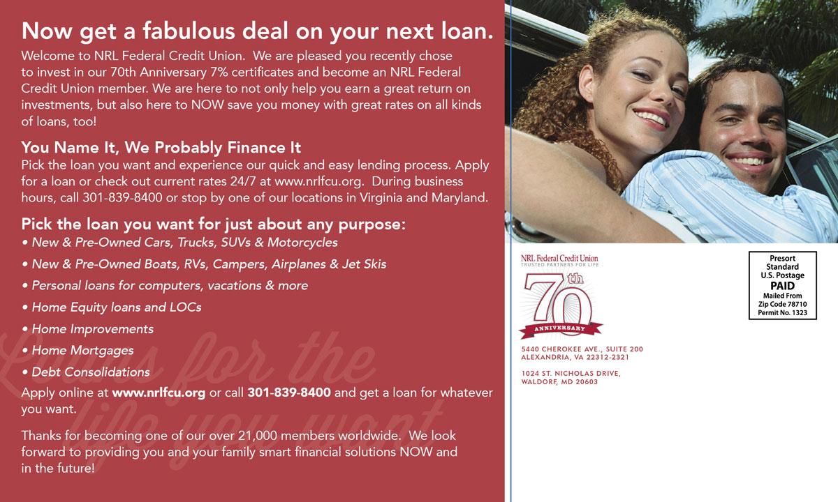 Client Onboarding Postcard – Loans – Back